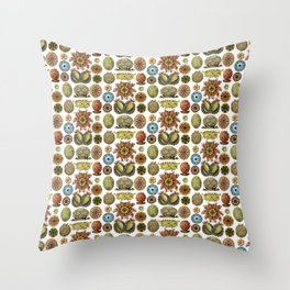 Ernst Haeckel Ascidiae Sea Squirts White Background Throw Pillow