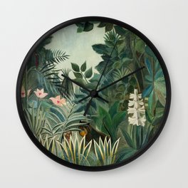 Jungle scene Wall Clock