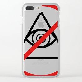 Anti Illuminati Clear iPhone Case