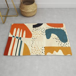 mid century shapes geometric abstract color 1 Rug