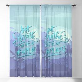 Just breath Sheer Curtain