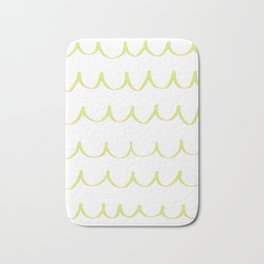 Citron Green Waves Bath Mat