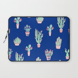 Little cactus pattern - Princess Blue Laptop Sleeve