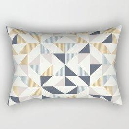 RETRO GEOMETRY 21 mustard Rectangular Pillow