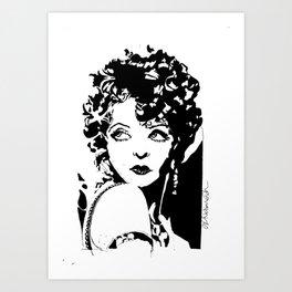 Clara Bow Art Print