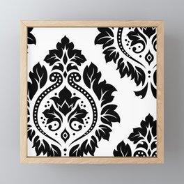 Decorative Damask Art I Black on White Framed Mini Art Print