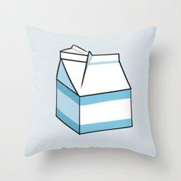 Milk Carton Light Blue Throw Pillow