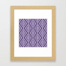 Fragmented Diamond Pattern in Violet Framed Art Print