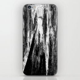 Neon tunnels - Black and white iPhone Skin