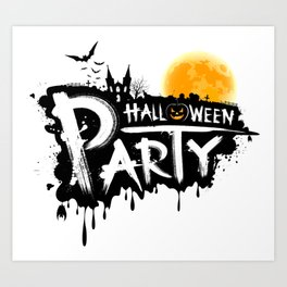 Halloween Party Art Print