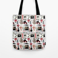 lou reed Tote Bags featuring A tribute to Lou Reed by Lili's Damn Fine Shop