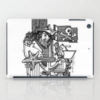 pirate iPad Cases featuring Pirate by María Nikólskaya