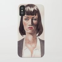 mia wallace iPhone & iPod Cases featuring Mia Wallace by Wei Yi