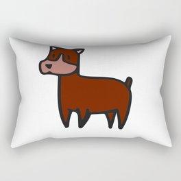 Red German Shepard Rectangular Pillow