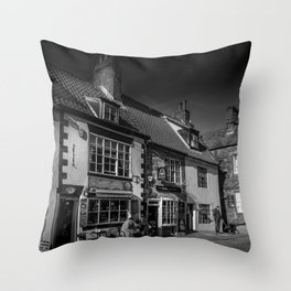 Cobbled Cafe Throw Pillow