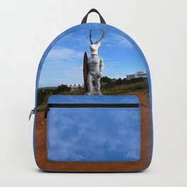 Veado Surfer Statue Standing Tall Backpack