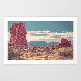 Canyonlands Desert Landscape Vintage Print Art Print