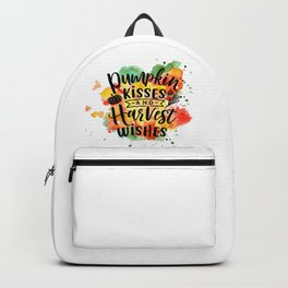 Pumpkin Kisses And Harvest Wishes Backpack