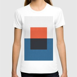 Blue and red composition XX T-shirt