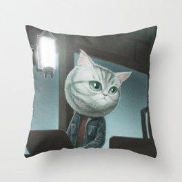 Spy Cat Throw Pillow