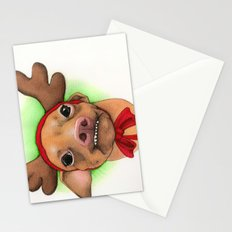 Chihuahua with antlers - Tuna Stationery Cards