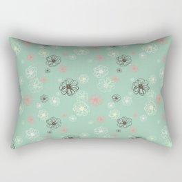 Poised Posies by Deirdre J Designs Rectangular Pillow
