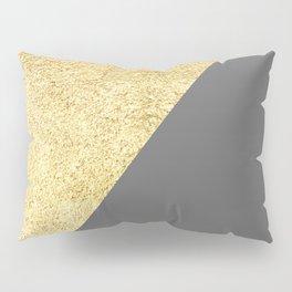 Golden brushstrokes III Pillow Sham