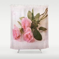 roses Shower Curtains featuring Roses by Fine Art by Rina