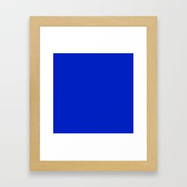 Solid Deep Cobalt Blue Color Framed Art Print