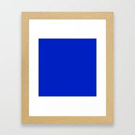 Solid Deep Cobalt Blue Color Framed Art Print