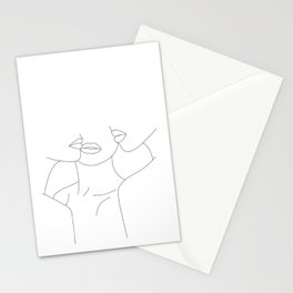 Minimalist faces illustration - Leila Stationery Cards