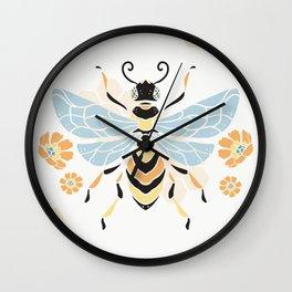 Honey Bee Abstract Pattern Wall Clock