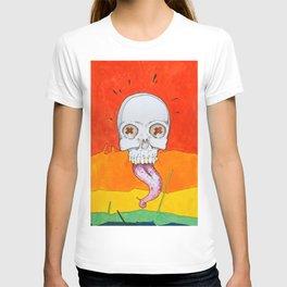 Color skull, cartoon bright colored skull T-shirt