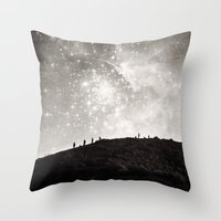 starry night Throw Pillows featuring Starry Night  by Laura Ruth