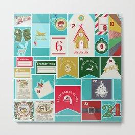 Christmas Advent Calendar Metal Print