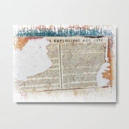 Explosive 1875  Metal Print