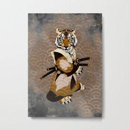 Tiger Ronin Metal Print