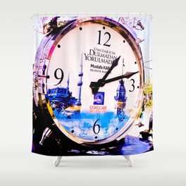 Watch marques not hours. Shower Curtain