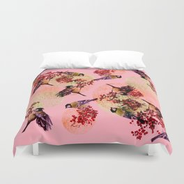 Little Blue Birds Duvet Cover