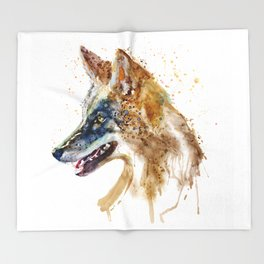 Coyote Head Throw Blanket