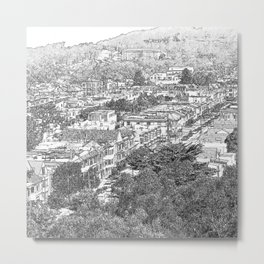 A View from Above. Metal Print