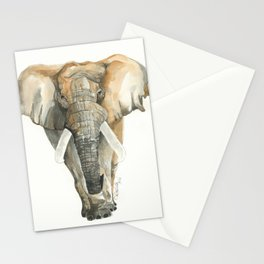 Elephant Watercolor Stationery Cards