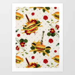 cheeseburger in gangstas paradise Art Print