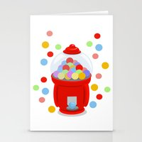 gumball Stationery Cards featuring Gumball Machine by elledeegee