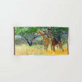 Giraffes in the Savannah Hand & Bath Towel