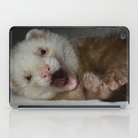 ferret iPad Cases featuring Cute Ferret by TheDookingFerret