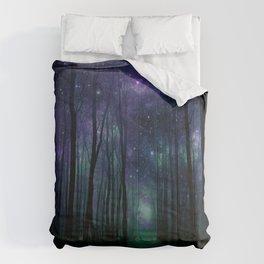 Fantasy Pathway Indigo Violet Teal Comforters