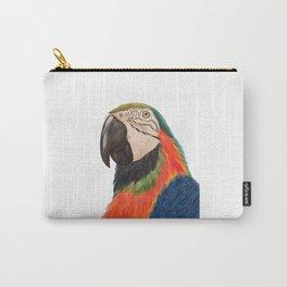 Colorful Parrot Portrait Carry-All Pouch