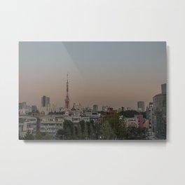Tokyo Tower Sunset View Metal Print