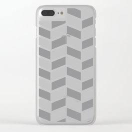Simple Grey Chevron Clear iPhone Case